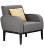 Rome One Seater Sofa in Grey Colour by Furnitech