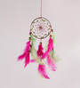 Rooh Multicolour Wool Freesia Car Hanging Dream Catcher