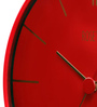 Rosetta Red Plastic 12 Inch Round View Wall Clock