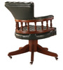 Rotating Chair - Teak and Leather by Tube Style