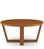 Round Coffee Table in Brown Colour by FurnitureTech