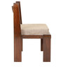 Royal Mesh  Teak Wood Chair with Jute Cushion in Mahogany Finish by VarEesha