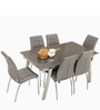 Royale Extendable Dining Table in Grey Colour by Godrej Interio