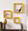 Rufino Contemporary Wall Shelves Set of 3 in Yellow by CasaCraft