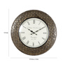 Rural Craft Multicolour Metal & MDF 17.5 Inch Round Chic Checks Wall Clock