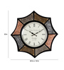 Rural Craft Multicolour Metal & MDF 22 Inch Round The Octa Shades Wall Clock