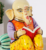 Rural Craft Multicolour Resin Accountant Ganesha