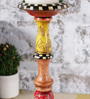 Rural Craft Multicolour Wooden Classy Candle Stand
