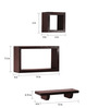 Tonio Contemporary Wall Shelves Set of 4 in Natural Teak by CasaCraft