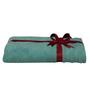 S9home by Seasons Aqua Blue Cotton Plain & Stripes Bath Towel