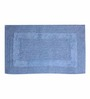S9home by Seasons Blue Cotton Bath Mat