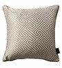 S9Home by Seasons Beige Polyester 16 x 16 Inch Cushion Cover with Piping