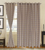 S9home by Seasons Beige Polyester Abstract Door Curtain - Set of 2