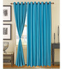 S9home by Seasons Blue Door Curtains Polyester (Set of 2)