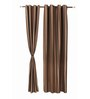 S9home by Seasons Long Brown Polyester Striped 60x108 INCH Door Curtain - Set of 2