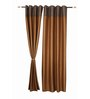 S9home by Seasons Long Brown Polyester 60x108 INCH Door Curtain - Set of 2