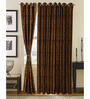S9home by Seasons Brown Polyester Abstract Window Curtain - Set of 2