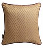 S9Home by Seasons Gold & Purple Polyester 16 x 16 Inch Cushion Cover with Piping - Set of 2