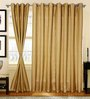 S9Home by Seasons Gold & Purple Polyester Geometric Curtain - Set of 2