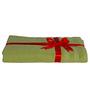 S9home by Seasons Green Cotton Plain & Stripes Bath Towel