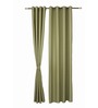 S9home by Seasons Long Green Polyester Solid 60x108 INCH Eyelet Door Curtain - Set of 2