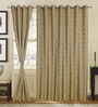 S9home by Seasons Green Polyester Ethnic Window Curtain - Set of 2