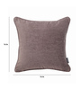 S9home by Seasons Grey Polyester 16 x 16 Inch Cushion Cover