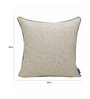 S9home by Seasons Grey Polyester 20 x 20 Inch Cushion Cover