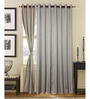 S9home by Seasons Grey Door Curtains Polyester (Set of 2)