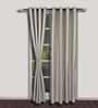 S9home by Seasons Grey Long Door Curtains - Set of 2