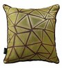 S9Home by Seasons Mint & Chocolate Polyester 16 x 16 Inch Cushion Cover with Piping - Set of 2