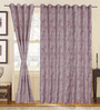 S9home by Seasons Pink Polyester Abstract Window Curtain - Set of 2