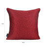 S9Home by Seasons Red Polyester 16 x 16 Inch Plain Cushion Cover