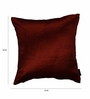 S9home by Seasons Red Velvet 16 x 16 Inch Cushion Cover