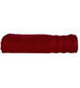 S9home by Seasons Red Cotton Plain & Stripes Bath Towel