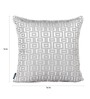 S9Home by Seasons Steel Polyester 16 x 16 Inch Geometric Cushion Cover