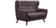 San Juan Two Seater Sofa in Cedar Brown Colour by CasaCraft