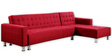 Sandrew L Shape Sofa in Red Colour by Madesos