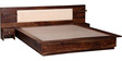Elkhorn Queen Bed with Bedside Tables in Provincial Teak Finish by Woodsworth