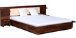 Elkhorn Queen Size Bed with Bed Side Tables in Provincial Teak Finish by Woodsworth