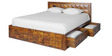 Saphire King Bed with Storage in Honey Brown Colour by Royal Oak