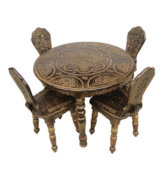Ethnic 4 Seater Dining Set by Saaga