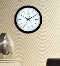 Safal Quartz Designer Black  MDF Wall Clock