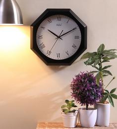Safal Quartz Black MDF 12 X 2 X 12 Inch Octagonal Roman Figured Beauty Wall Clock