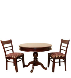 Amherst Two Seater Dining Table Set in Honey Oak Finish by Amberville