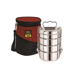 Sai Home Appliances Carat Stainless Steel Lunch Box