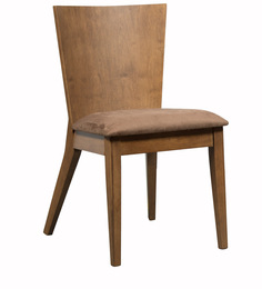 Salucar Dining Chair (Set Of 2) In Cocoa And Brown Finish By CasaCraft