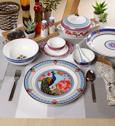 Sanjeev Kapoor Mayura Collection Bone China Dinner Set - Set Of 48