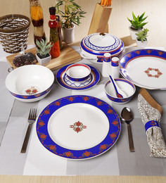 Sanjeev Kapoor Noor Collection Bone China Dinner Set - Set Of 48