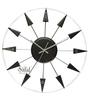 Safal Quartz Round Black & White MDF 15.5x 15.5 x 2 Inch Wall Clock